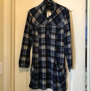 Papillon Blue Plaid Dress